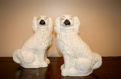Antique Pair Mid C19th Staffordshire Pottery Dogs