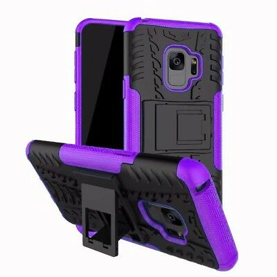 Heavy Duty Gorilla Shock Proof kick Stand Case Cover for Samsung A8 2018 Purple