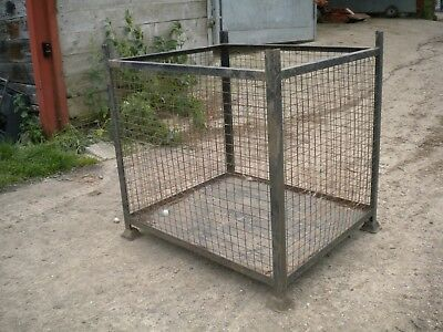 Pallet size cage / mesh stillage, 130x 110x 120cm high......... ..£60+VAT