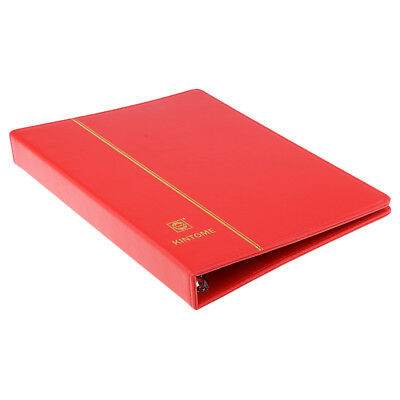 4 Holes Paper Money Collection Album Stamps Book w/ Soft Leather Notes -Red