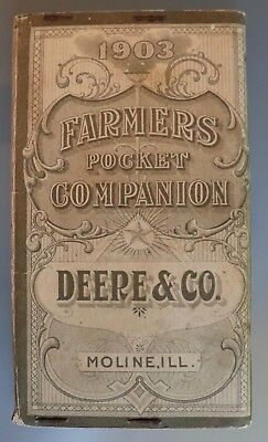 Rare 1903 John Deere Plow & Co. Moline, Illinois Farmers Pocket Companion