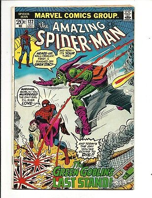 AMAZING SPIDER-MAN # 122 (DEATH of The GREEN GOBLIN, JULY 1973), VG+
