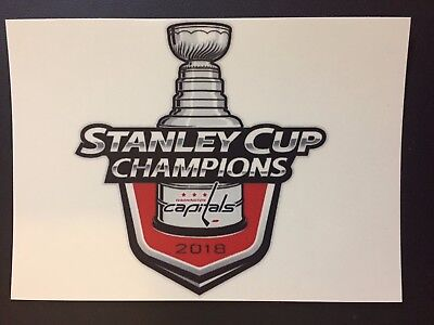 """2018 Stanley Cup Final Champions Washington Capitals Adhesive Sticker 5.5"""" X 4"""""""