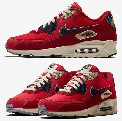 on sale fe685 0ea0f Nike Air Max 90 Premium SE Chenille Swooshes Sneaker Men s Lifestyle Shoes