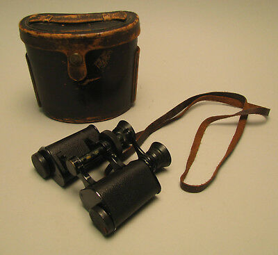 Early Zeiss Bausch & Lomb 8x Binoculars with Case