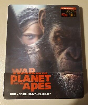 Blu ray steelbook 4K War For The Planet Of The Apes 5A Filamarena Neuf avec VF