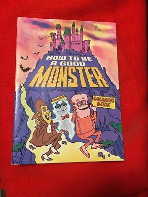 Vintage General Mills Premium How To Be A Good Monster Coloring Book