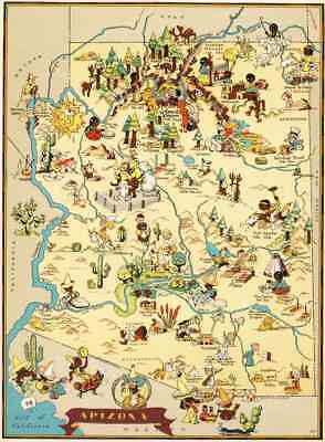 Vintage Pictorial Map of South Carolina Ruth Taylor 1935 Canvas Reproduction