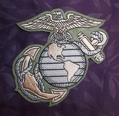 U.s. Marines Patch Marine Corps Usmc Embroidered Sew/ Iron Semper Fi
