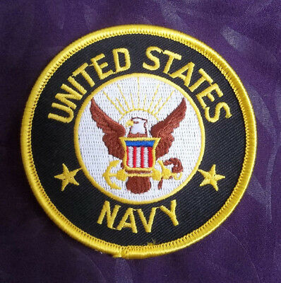 Navy Patch Us Navy Military Naval Armed Forces  Embroidered Sew/ Iron Diy