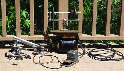 Watchmakers Lathe Levin 8mm Headstock + Tailstock + GE Motor+ Counter Shaft