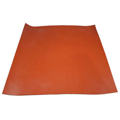 Red Silicone Rubber Mats - 600mm Square, Selection of Thicknesses, High-Temp.