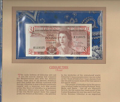 Most Treasured Banknotes Gibraltar 1 pound 1979 P20b Gem UNC K118085