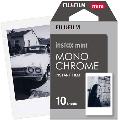 Fujifilm Instax Mini Instant Film Monochrome for Mini 9 8 7s 7c 70 25 SP-2 SP-1