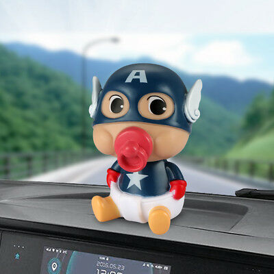 Car Ornament ABS Baby Nipple Doll For Captain America Cute Decoration Automobile
