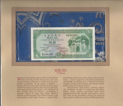 Most Treasured Banknotes Macau 1981 5 Patacas P58c GEM UNC BX06306