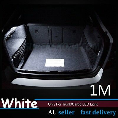1pc White 100cm LED Strip Light Flexible Car Auto Rear Trunk Cargo Box Light 12V
