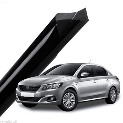 50cm*1M Black VLT 35% Glass Window Tint Shade Film Auto Car House Roll Dyed