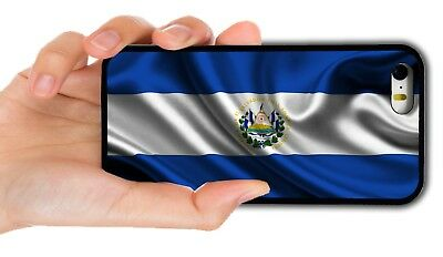 El Salvador Flag Rubber Phone Case Cover For Iphone Xs Max Xr 4 5 5C 6 7 8 Plus