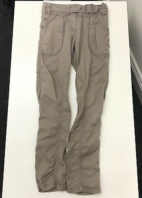 Next Girls Brown Belted Long Cargo Style Slim Leg Trousers Pants UK Age 9 Years