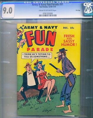 ARMY AND NAVY FUN PARADE #91 CGC 9.0 File Copy ONE OF ONLY TWO HIGHEST GRADED