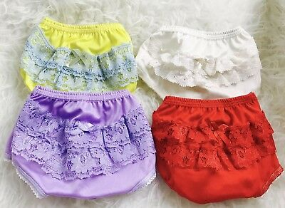 Baby Infant Girls Lace Ruffles Bloomers Panties Briefs Diaper Nappy Cover 0-24M