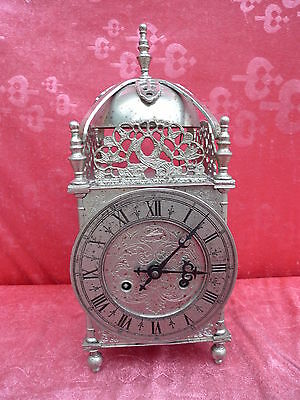 Beautiful, ANTIQUE FIREPLACE CLOCK __METAL __ 35cm, 4kg__Schmid__ Watch __