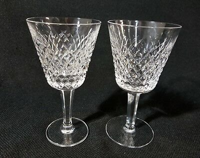 "WATERFORD ALANA Claret Wine Glasses 5 7/8"" Set of 2"