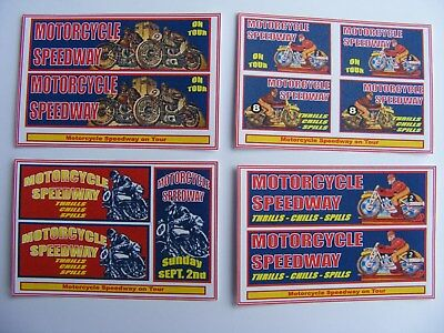 'Motorcycle Speedway' Fun Fair Stickers – 4 Mini Sheets