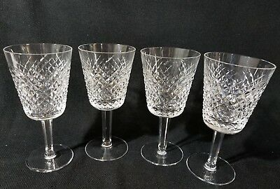 """WATERFORD ALANA Water Globets Wine Glasses 7"""" Set of 4"""