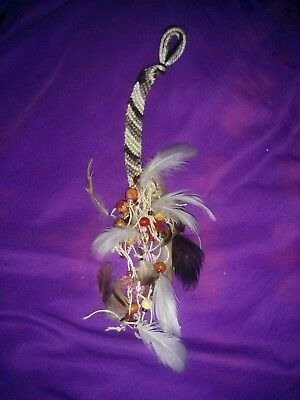 BEAUTIFUL Native American Hand Made Feather Dream Catcher Car Decor Wall Hang