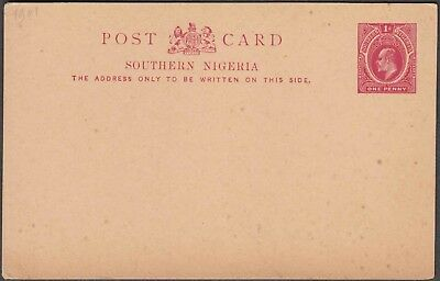 SOUTHERN NIGERIA 1p SCARCE UNUSED POSTAL STATIONERY CARD.