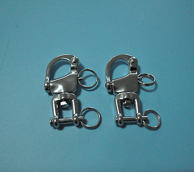 Pair Of 316 Stainless Steel Fixed Snap Shackle 2-3/4""