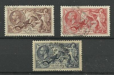 1934 Set of 3 Re-Engraved Seahorses, Sg 450-452, Very fine used. {TT1193-38}