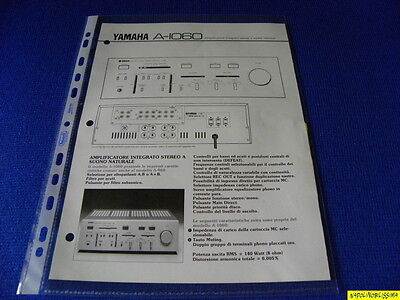 Original Reference Guide for Yamaha A-1060