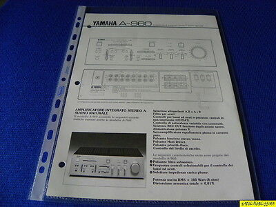 Original Reference Guide for Yamaha A-960