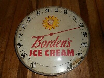 Vintage Original ELSIE THE COW Bordens Dairy ICE CREAM Advertising Thermometer