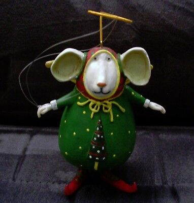 RETIRED Mouse Department 56 Krinkles Christmas ornament Patience Brewster 2002