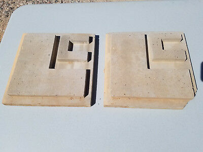 Rare Large Vintage Frank Lloyd Wright Style Concrete Structural Wall Tiles