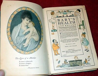 Early Baby Book Advertizing 1916 child care.