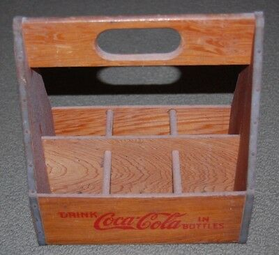 Vintage WOODEN COCA COLA SIX PACK CARRIER