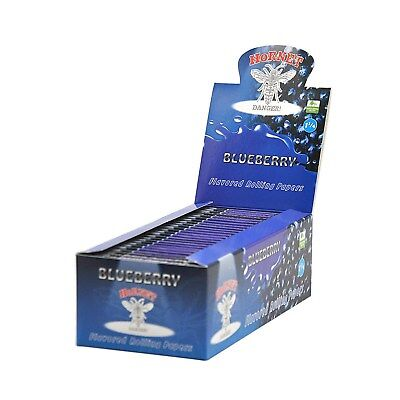HORNET BLUEBERRY Flavored Cigarette Rolling Paper,1 1/4 Size (50 Packs) USA