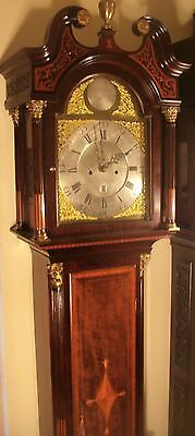 """Antique Mahogany Brass Dial """"Month Duration """" Longcase / Grandfather Clock"""