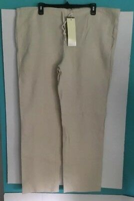 64c5be8f3 NEW PERRY ELLIS Mens Pants White 100% Linen NWT $89.50 sz 36/32 ...