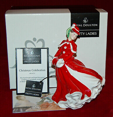 ROYAL DOULTON CHRISTMAS CELEBRATION HN4721 Magnificent Porcelain Made In England