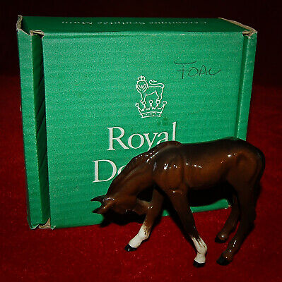 ROYAL DOULTON  BROWN FOAL  DA71A  Magnificent Figurine! 1980'S In Box!