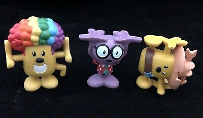 LOT OF 3 Wow! Wow! Wubbzy Stackable Figures Kooky Kollectibles