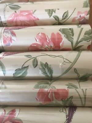 Laura Ashley Summer Palace Cranberry wallpaper rolls Price Per Roll