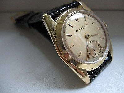 IWC Schaffhausen Cal.88 Inca 0,750 solid gold um 1946 runs perfect Dm: 34,8mm