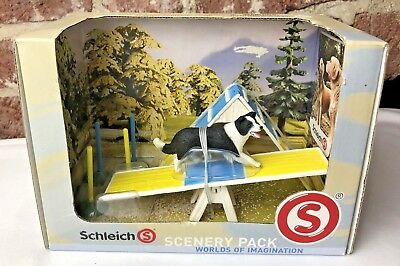 NEW! Schleich Dog Agility Scenery Pack 41803 Border Collie